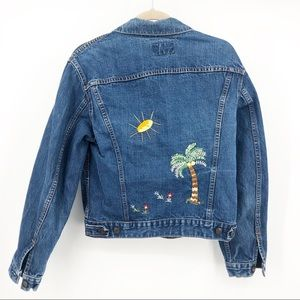Levi's embroidered denim jacket